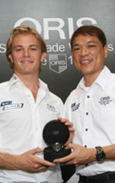 Nico Rosberg is equal to the Oris challenge in Singapore
