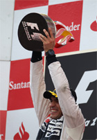 Pastor Maldonado wins in Barcelona